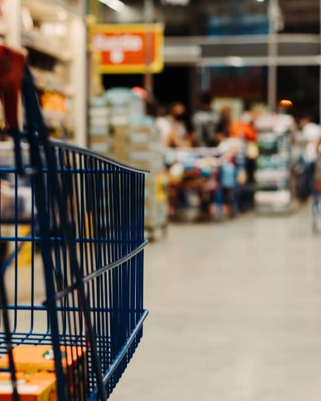 carrito de la compra en batidas masivas